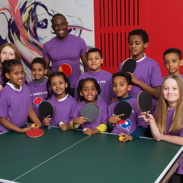 Kids table tennis at St Lukes