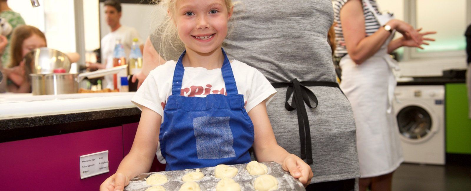 Kids cooking at Central Street Cookery School