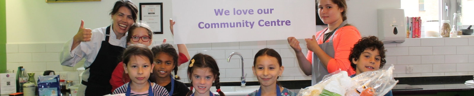 Children cooking at Central St Cookery School